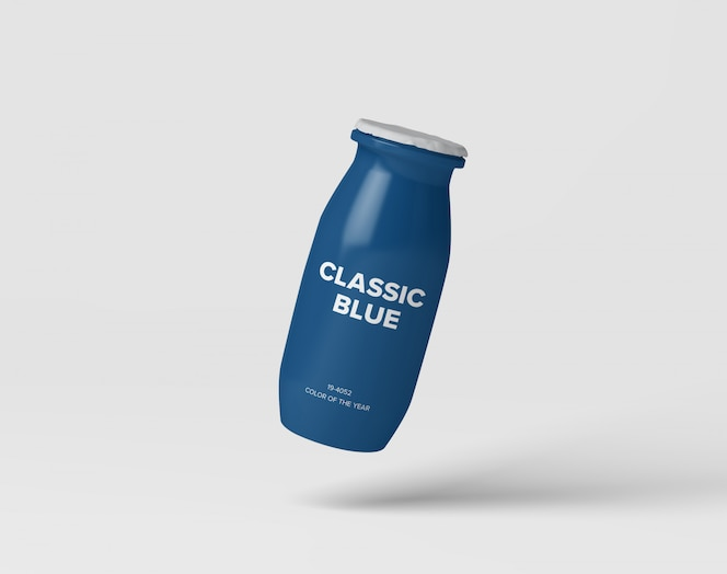 Makieta butelki z mlekiem