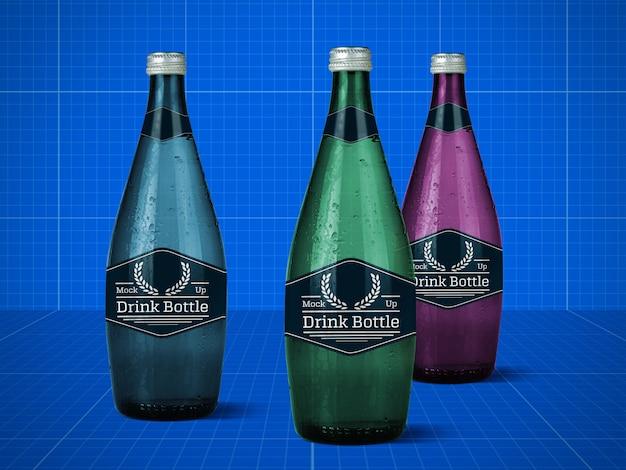 Makieta butelki z napojem