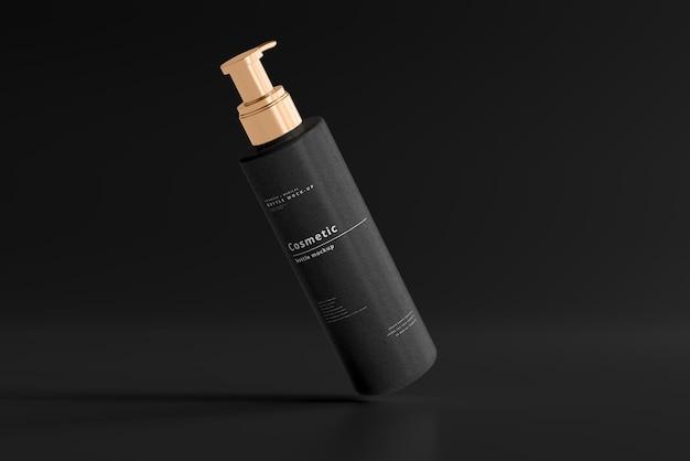 Makieta butelki z pompką kosmetyczną