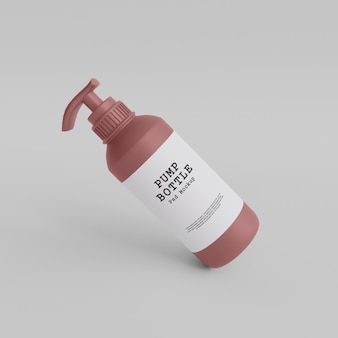 Makieta butelki z pompką premium psd