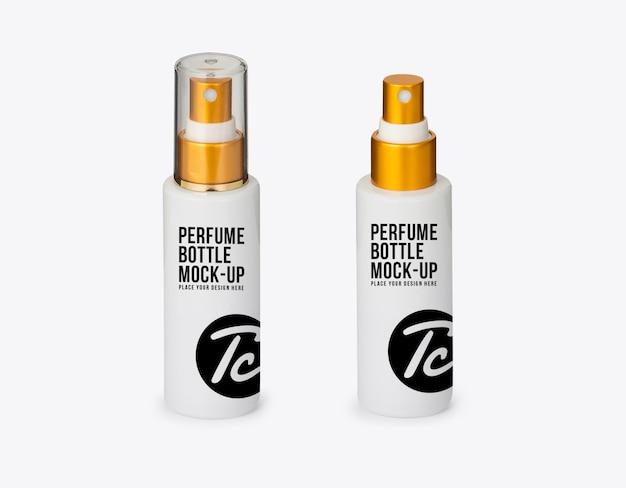 Makieta butelki z rozpylaczem białych perfum