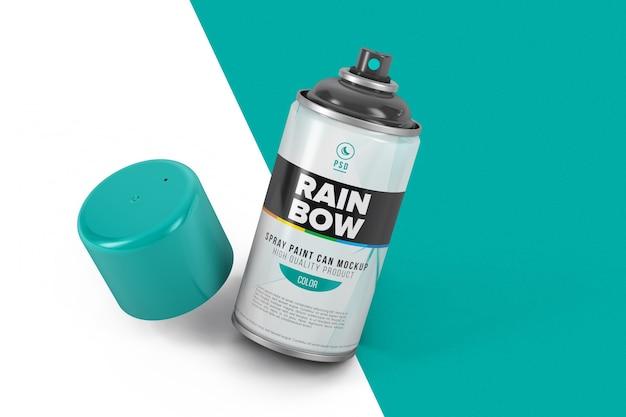 Makieta butelki z rozpylaczem do malowania na białym tle