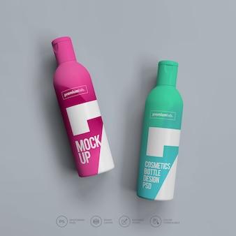 Makieta butelki z rozpylaczem premium psd