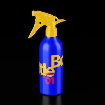 Makieta butelki z rozpylaczem psd