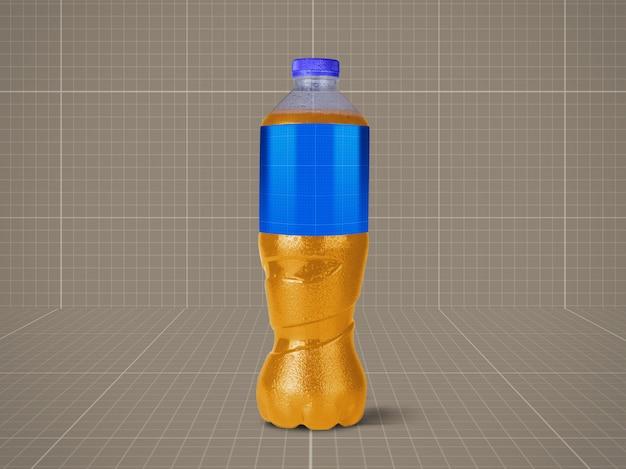 Makieta butelki z sokami