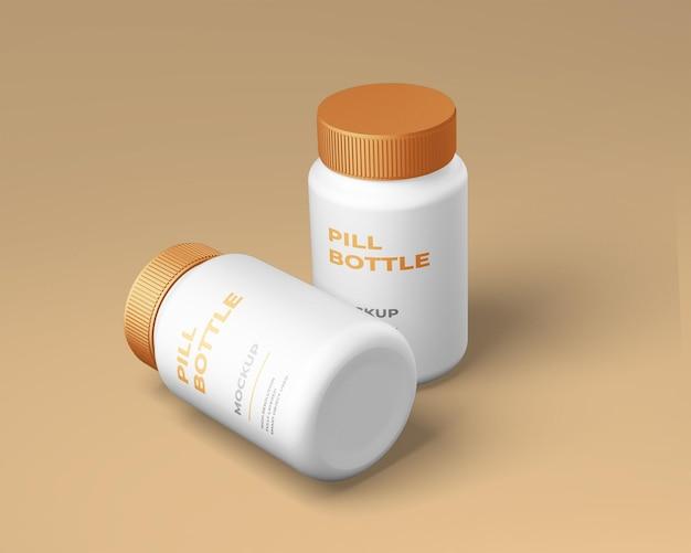 Makieta butelki z tworzywa sztucznego na białym tle
