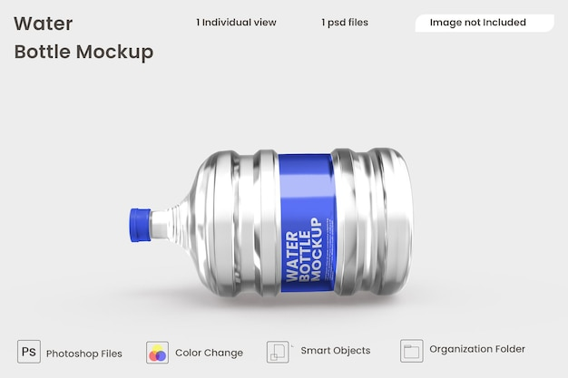 Makieta butelki z wodą premium psd