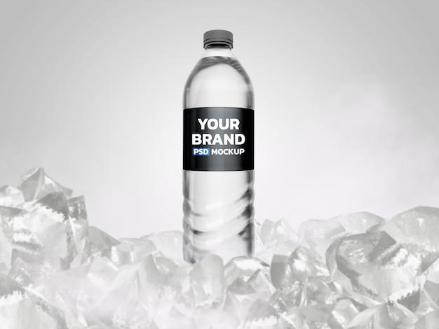 Makieta butelki z wodą rendering 3d
