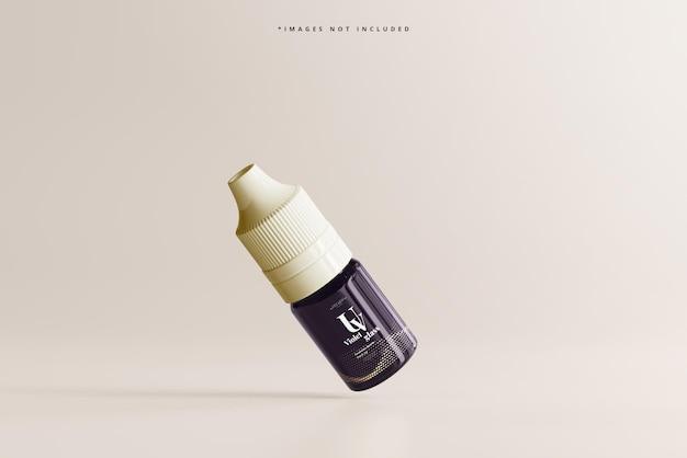 Makieta butelki z zakraplaczem uv ze szkła jednorożca