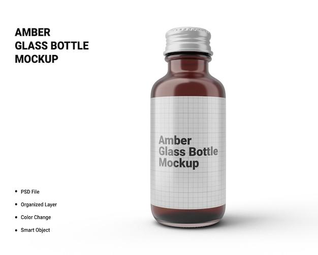 Makieta butelki ze szkła bursztynowego