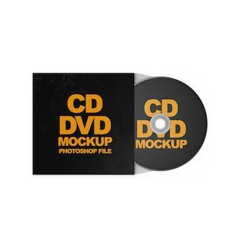 Makieta cd dvd na białym tle