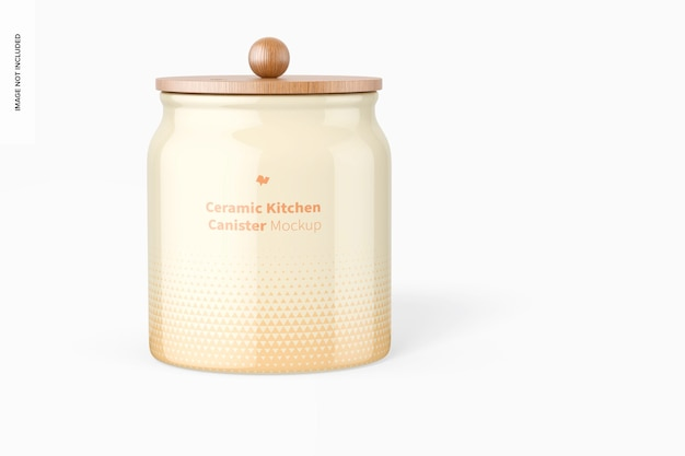 Makieta ceramicznego pojemnika kuchennego