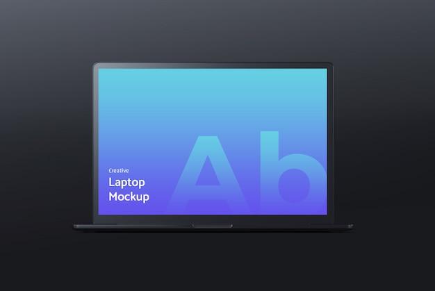 Makieta ciemnego laptopa