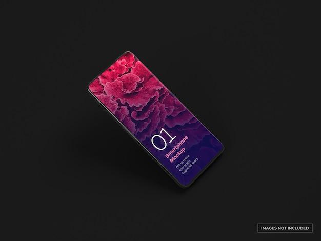 Makieta ciemnego smartfona
