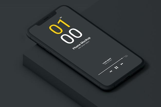 Makieta ciemnego telefonu