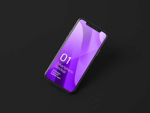 Makieta ciemnego urządzenia mobilnego