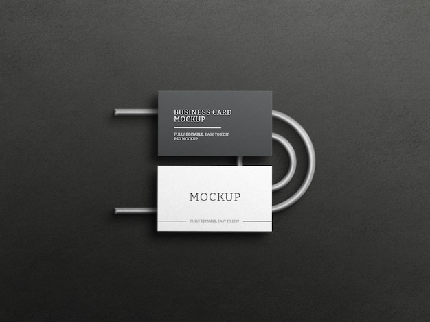 Makieta ciemnej wizytówki