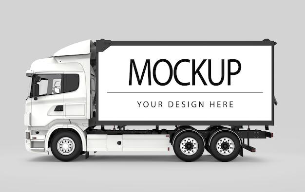 Makieta ciężarówki na białym tle
