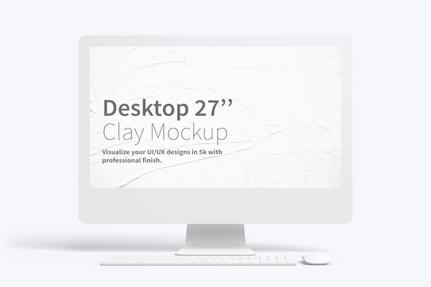 Makieta clay desktop 27