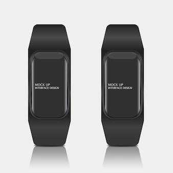 Makieta cyfrowego interfejsu wyświetlacza dla inteligentnego zegarka