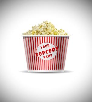 Makieta cylindrycznego pudełka na popcorn bezpłatne psd