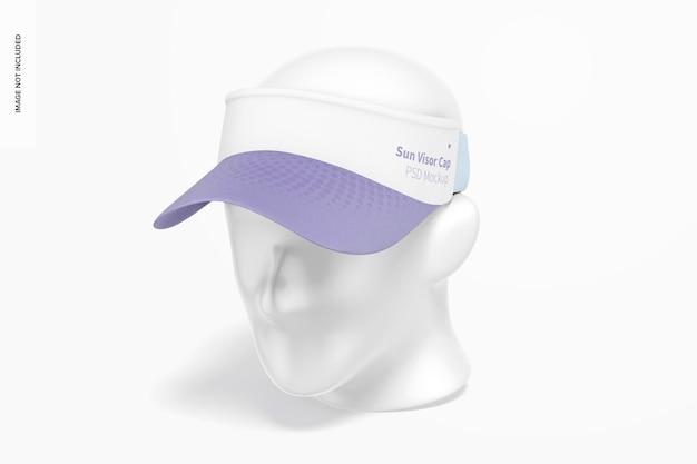 Makieta czapki przeciwsłonecznej, widok z lewej strony