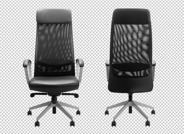 Makieta czarnego krzesła biurowego