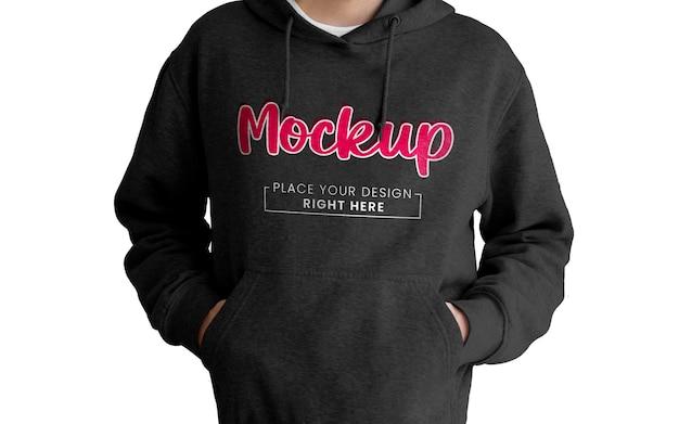 Makieta czarnej bluzy z kapturem