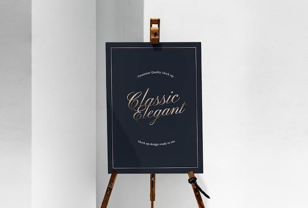 Makieta czarnej tablicy na stojaku