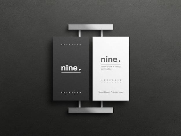 Makieta czarno-białych wizytówek