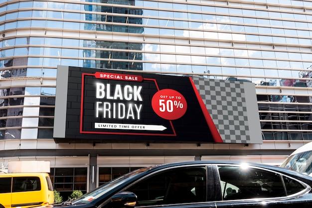 Makieta czarny billboard piątek