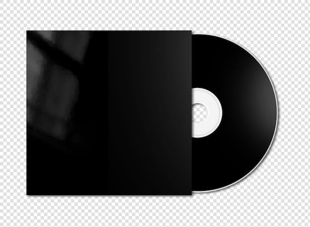 Makieta czarny cd - dvd na białym tle