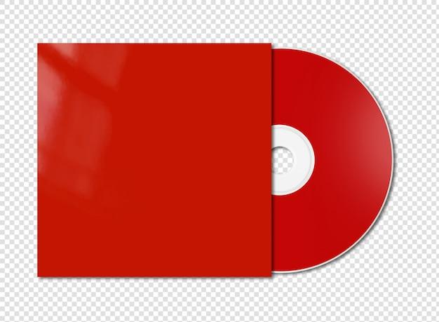 Makieta czerwony cd - dvd na białym tle
