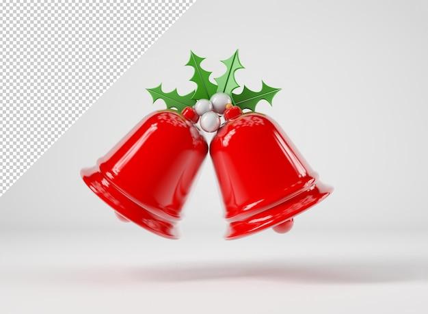 Makieta czerwonych dzwonków świątecznych