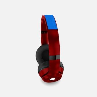 Makieta czerwonych słuchawek