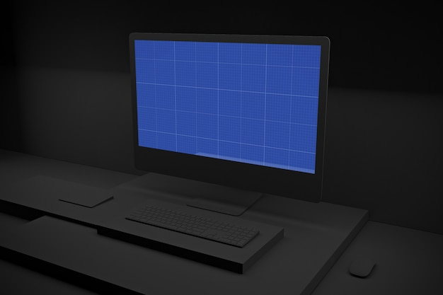 Makieta dark computer pro