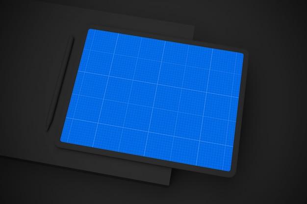 Makieta dark tablet pro