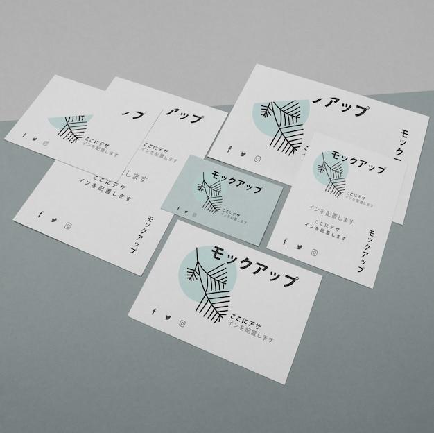 Makieta dla azjatyckiej firmy biznesowej na dokumentach