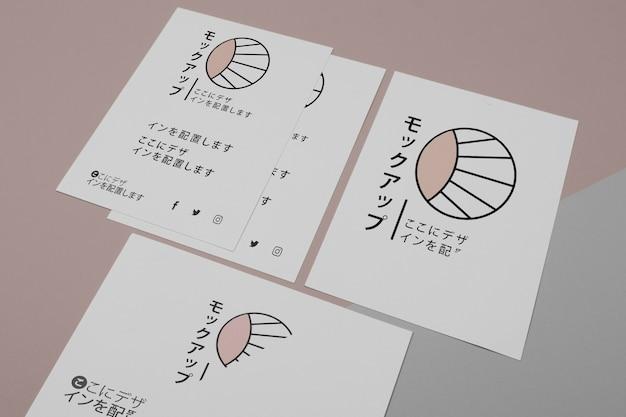 Makieta dla japońskiej firmy biznesowej high view