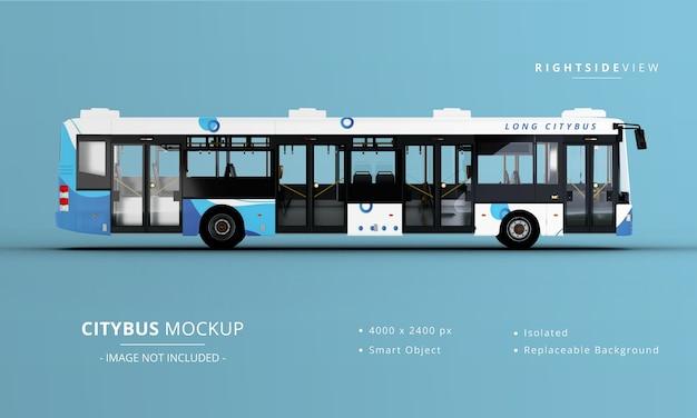 Makieta długiego autobusu miejskiego z prawej strony