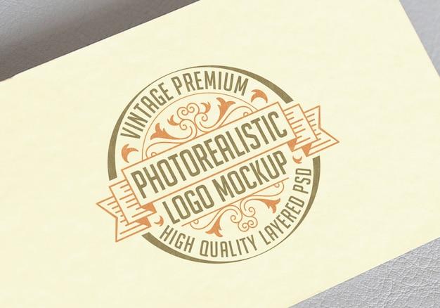 Makieta do fotorealistycznego logo vintage premium - wysokiej jakości plik psd makieta warstwowa