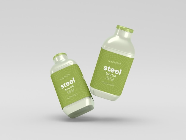 Makieta do pakowania butelek ze stali