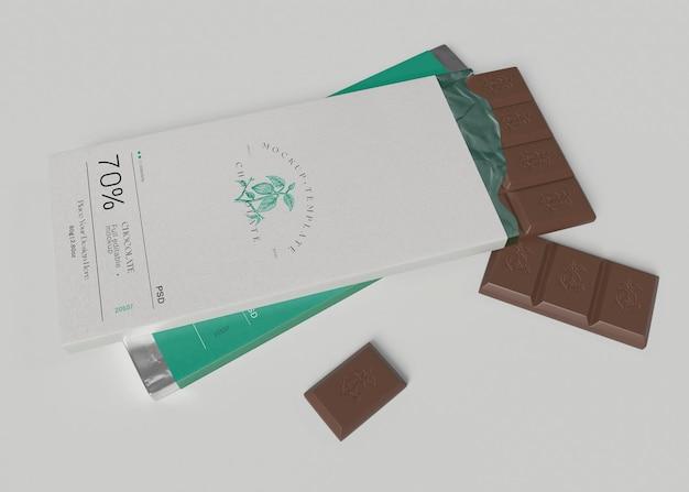 Makieta do pakowania czekolady