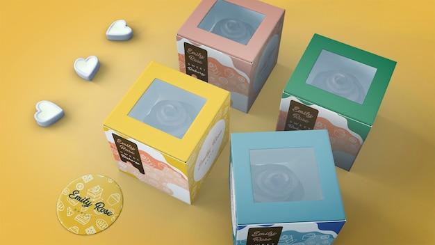 Makieta do pakowania i znakowania ciastek