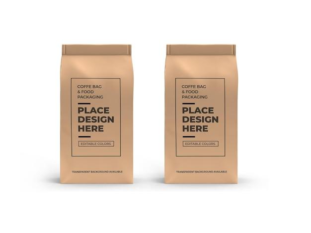 Makieta do pakowania kawy i torebek na żywność