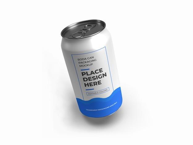 Makieta Do Pakowania Sody Na Białym Tle Premium Psd