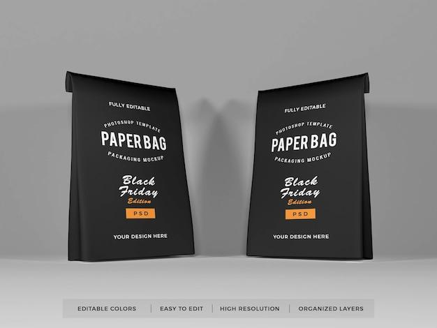 Makieta do pakowania toreb papierowych