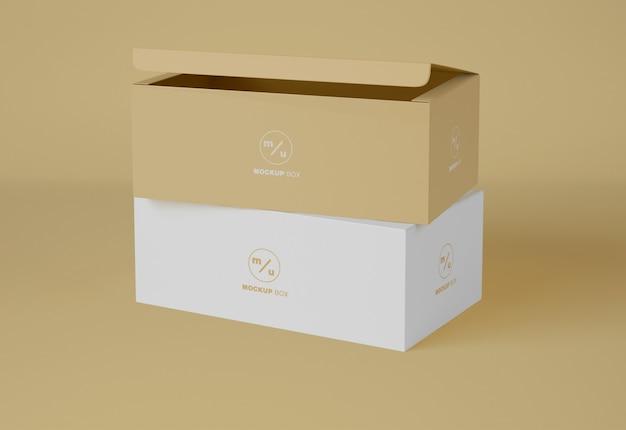 Makieta do pakowania w dwa pudełka