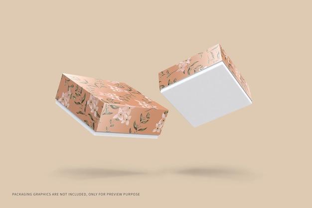 Makieta do pakowania w kwadratowe pudełko