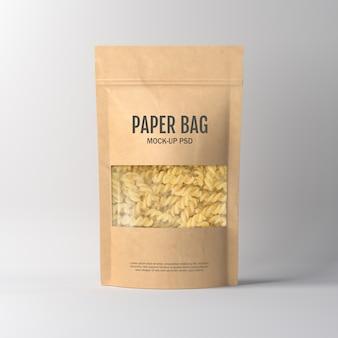 Makieta do pakowania w papierową torbę